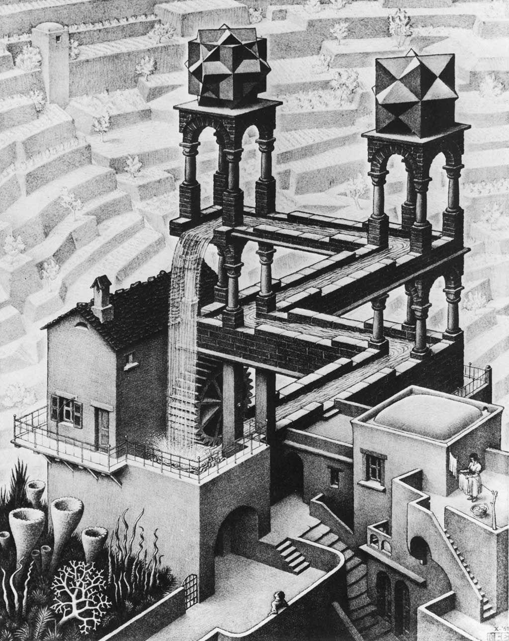 M.C. Escher: Waterfall (1961) | ART | Pinterest | Wasserfall ...
