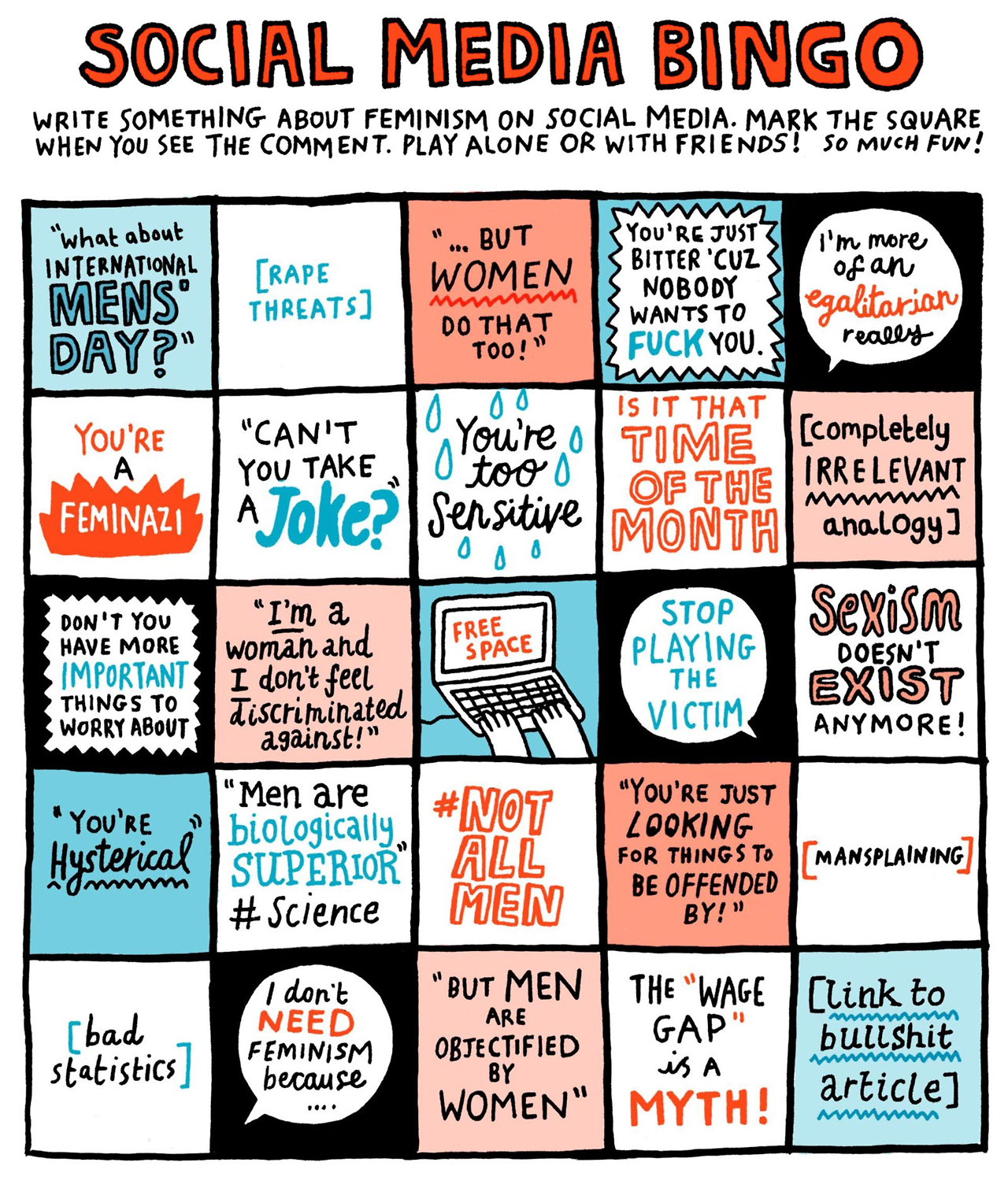 Gemma Correll - from The Feminist Activity Book
