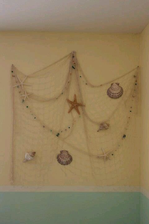 Fishing Net With Starfish Can Hang On The Walls And