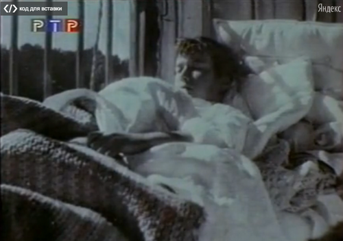 """""""This photo came from a documentary. I know that it is Grand Duchess Anastasia, because she was the only one of the children to have a fringe. It appears that her bed has been moved next to the window. I believe this may have been taken during one of her bouts with bronchitis during the Great War."""" -Tumblr Person"""