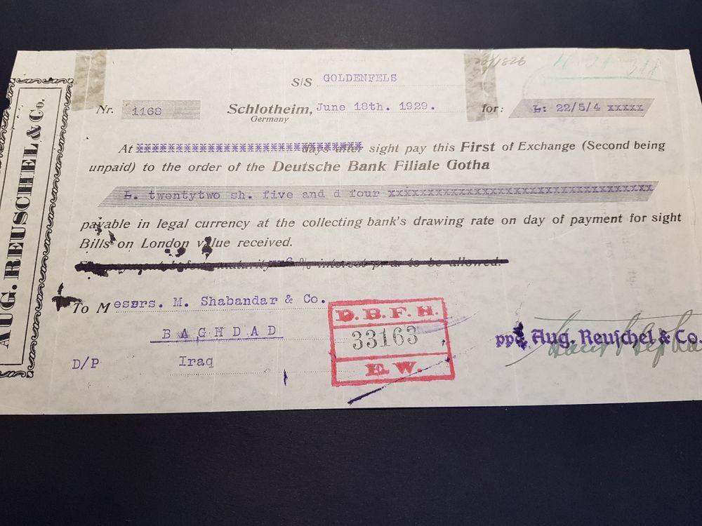 Iraq Baghdad Deutsche Bank Filiale Gotha / SCHLOTHEIM
