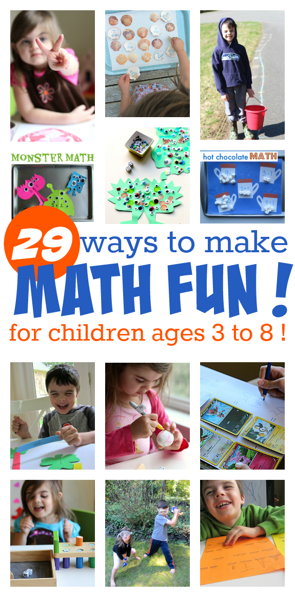 29 Ways to Make Math Fun! -- for children ages 3-8. | Activities ...