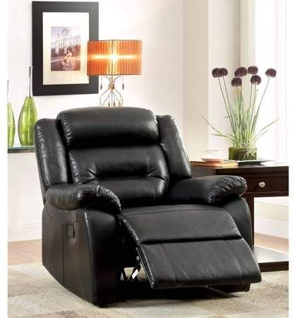 Furniture of America Leonard Contemporary Recliner, Black Products