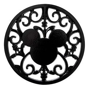 Disney Metal Trivet - Gourmet Mickey Mouse Icon - Black Hot Pad