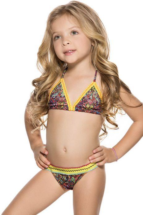 AGUA BENDITA Bendito Simbolo Kids Bikini | Orchid | Kids ...