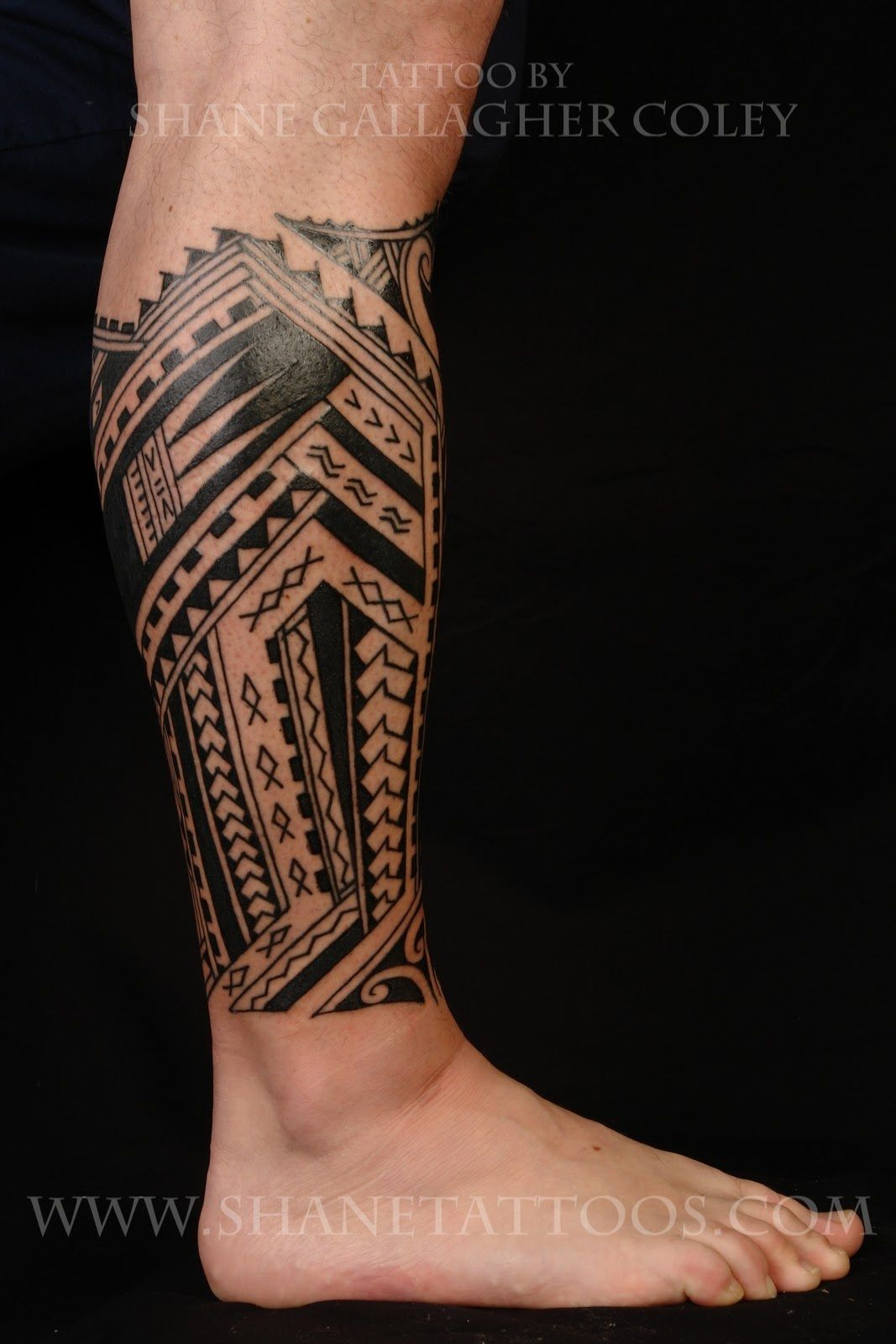 Calf Tattoo Designs For Men Polynesian Tribal Tattoos ...