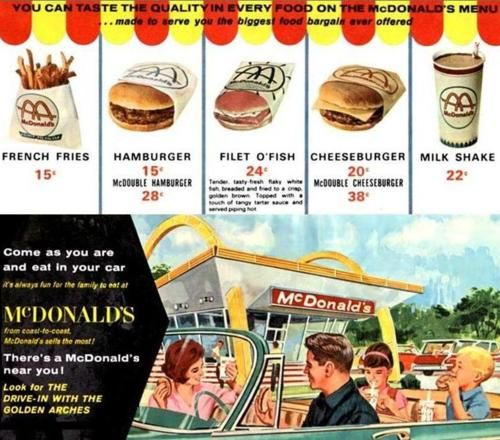 1960s prices at mcdonalds there were a bazillion 19 cent hamburger 1960s prices at mcdonalds there were a bazillion 19 cent hamburger drive ins in the 60s it was bikes burger bar in my hometown altavistaventures Gallery