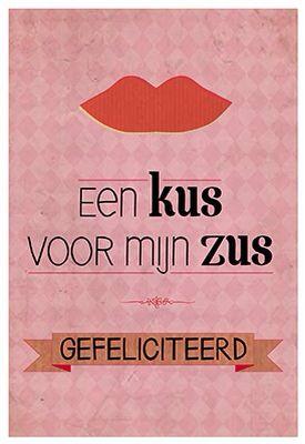 zus jarig Jarig Zus | kaarten | Pinterest | Happy birthday zus jarig