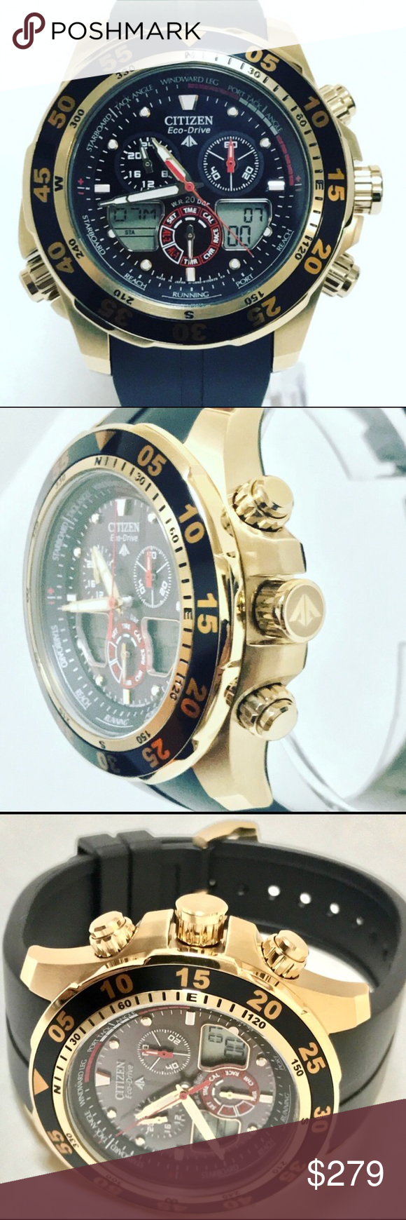 Citizen Men's watch Rotating Rose Gold Plated Bezel with