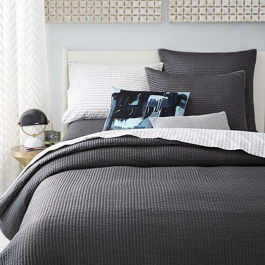 Channel Stitch Coverlet Modern Bed Coverlet Master Bedroom Hotel Bedding Sets