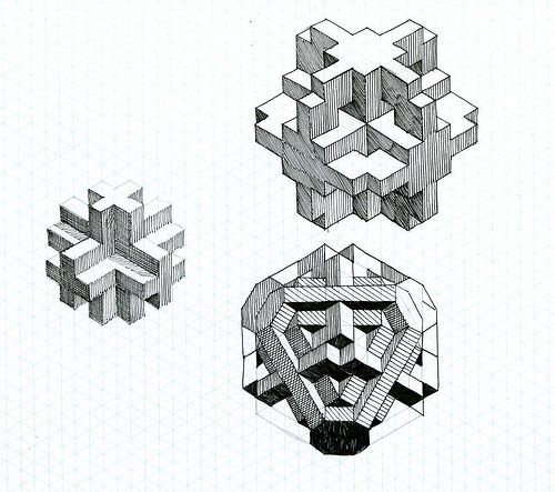 fun with isometric paper 01 Geometric Rose Pinterest - isometric dot paper