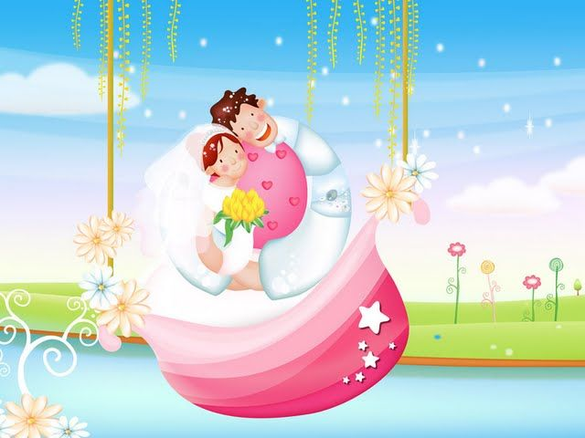 Valentines Day Sweet Lovers Valentines Day Illustration Wallpaper
