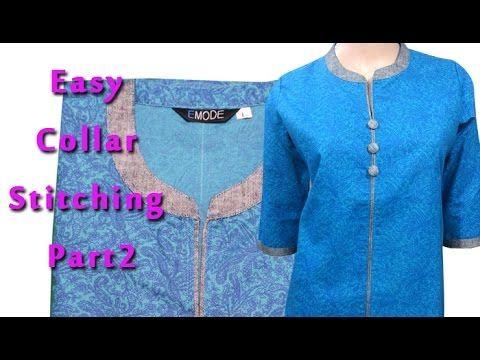 2acbca623250 Best ever collar kurti tutorial ,mandarin collar,china collar,kurti cutting  explained DIY part2 - YouTube