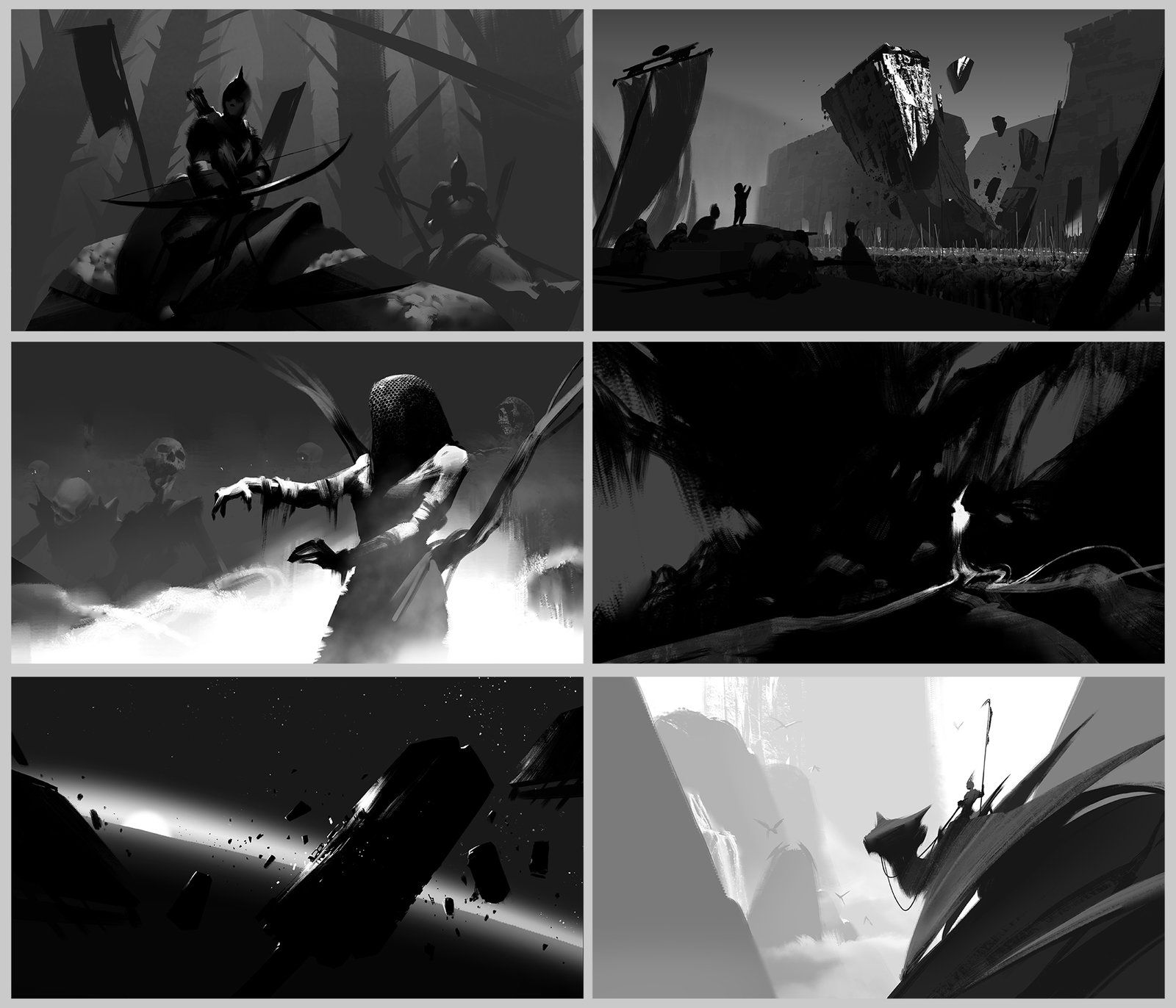 Composition Sketches, Sung Choi on ArtStation at https://www.artstation.com/artwork/composition-sketches-007978a1-2985-4454-aac3-6056350eb847