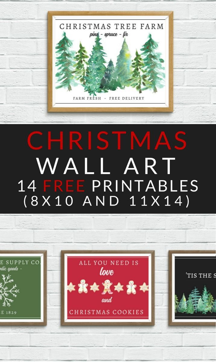 free christmas printables farmhouse christmas art