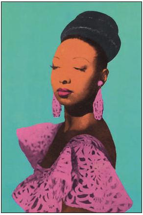 Josephine Baker - 1950's reproduction of a 1930's Studio Harcourt portrait - @~ Mlle
