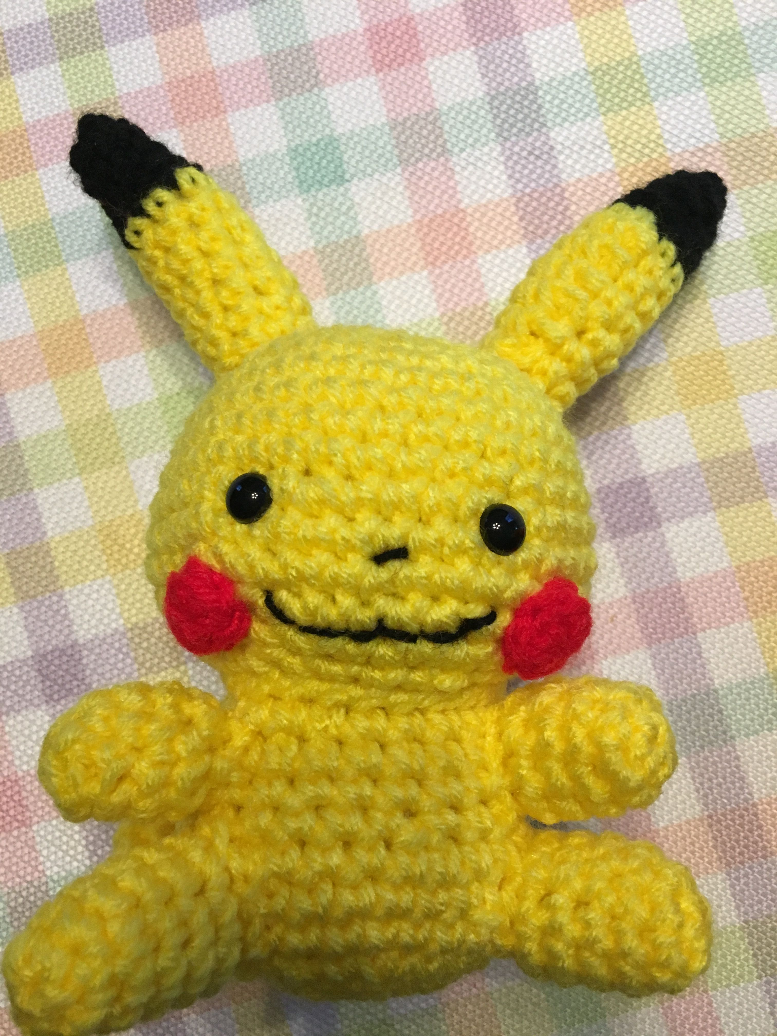Colorful Knitted Pikachu Pattern Embellishment - Sewing Pattern for ...