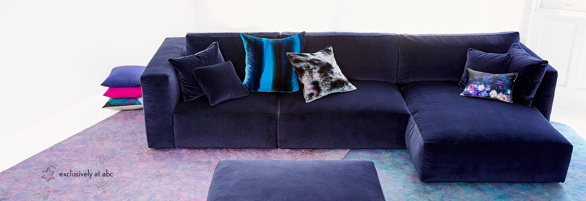 Find modern sectional sofas u piece sectionals at abc home for