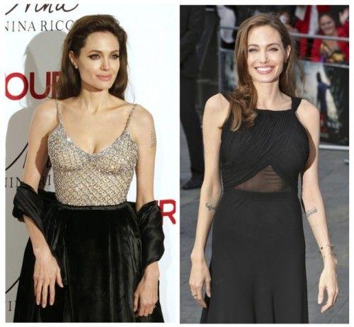 Angelina Jolie Boob Job 500x462 Angelina Jolie Plastic Surgery And