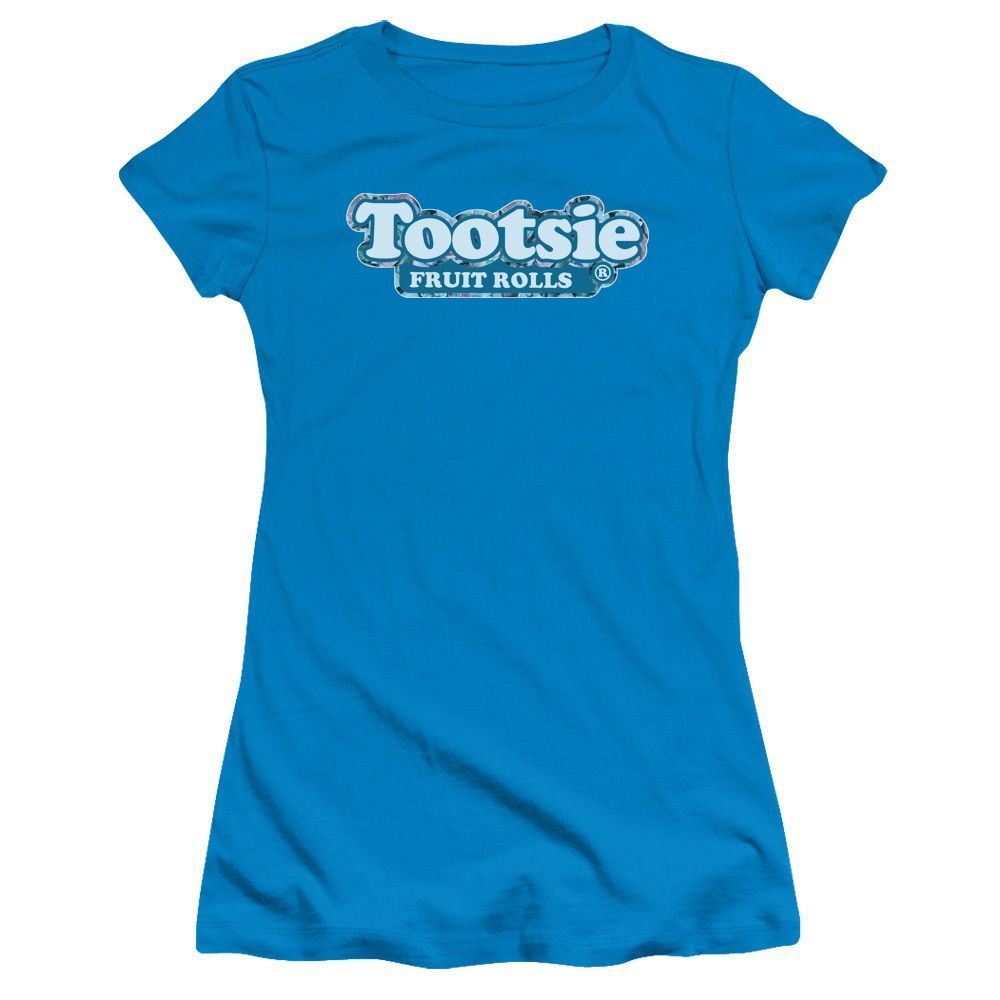 Tootsie Roll/Tootsie Fruit Rolls Logo Junior Sheer in Turquoise Girl's