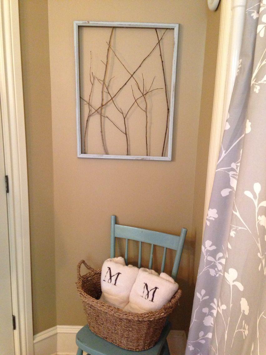 Frame twigs easy diy wall art diy pinterest diy wall art