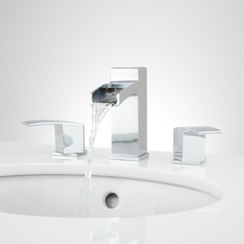 Morata widespread waterfall bathroom faucet