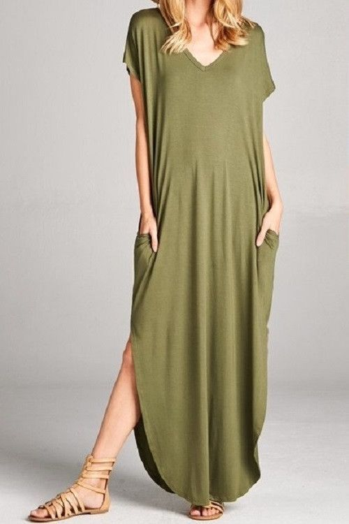 29675aa4737a Oversized T-Shirt Maxi Dress | Clothes | Maxi shirt dress, Dresses ...