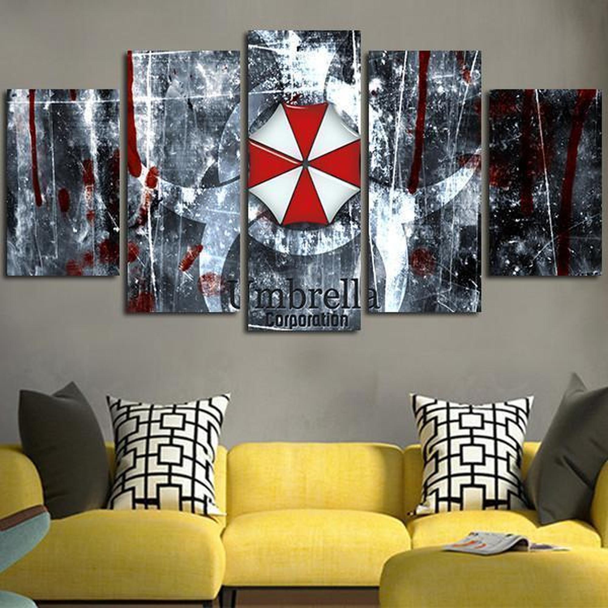 Resident Evil Umbrella Corporation Logo Movie Canvas Wall