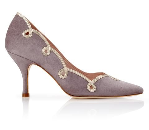 Molly Cinder and Gold Occasion Court Shoe Designed by Emmy London