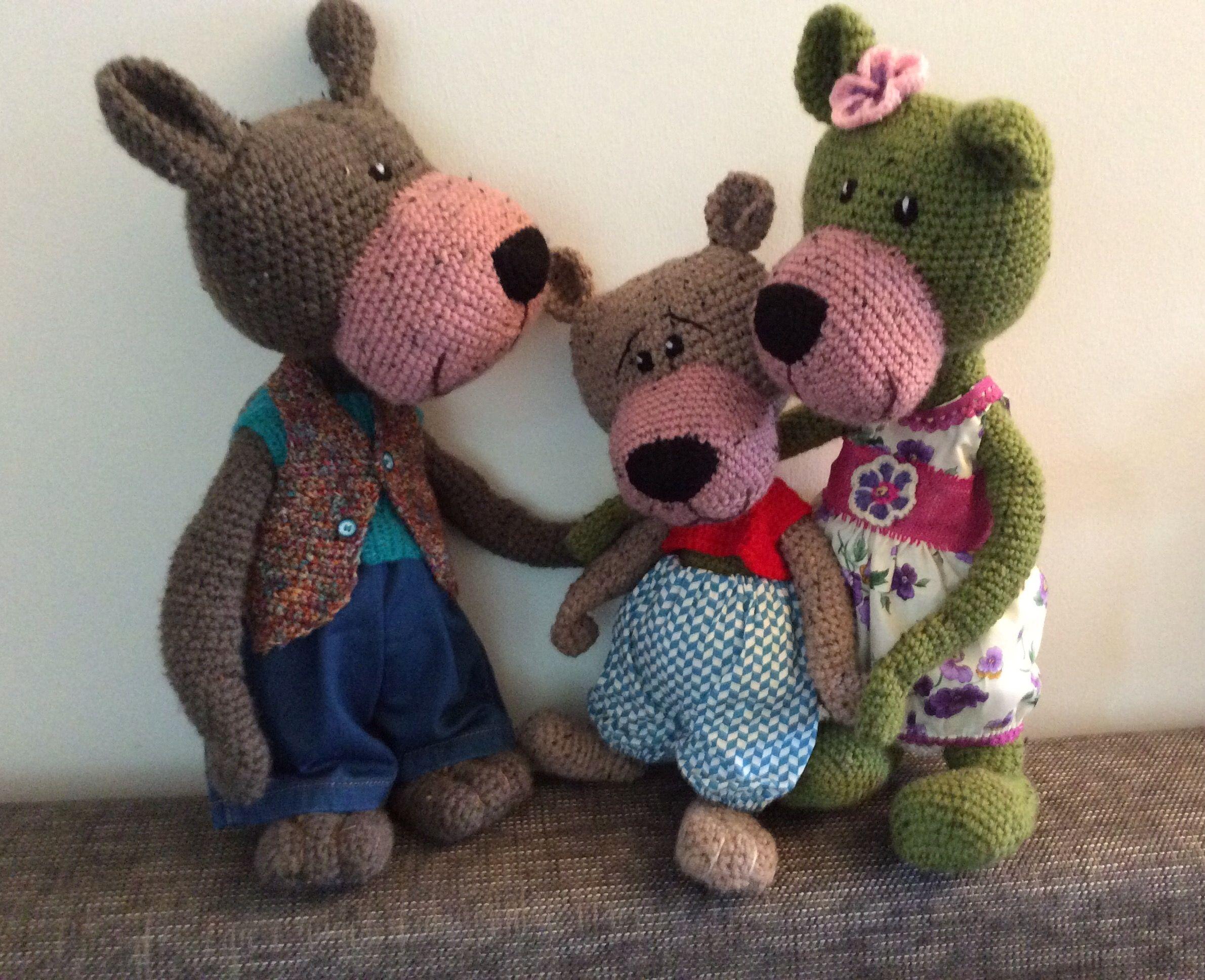 Amigurumi Bear Nose : Fam big nose bear medvědi big noses bears and