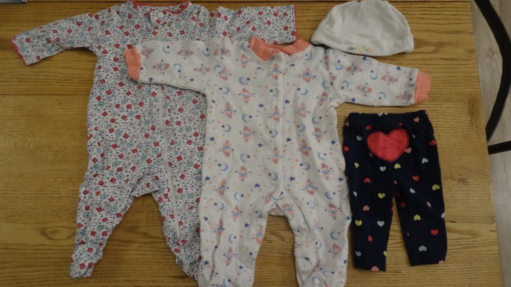 e242b9fa1 Girls sleepers lot of 4 - 0-3 mo Carter's Child of mine Baby Gear Carters  #fashion #clothing #shoes #accessories #babytoddlerclothing ...