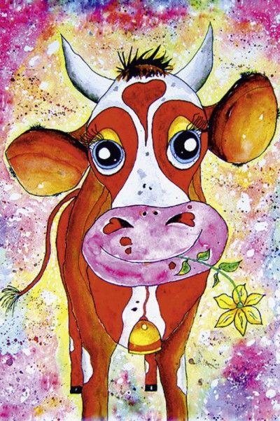 Siegfried2838 kuh karla malerei tiere zeichnungen for Kinderzimmer bilder tiere