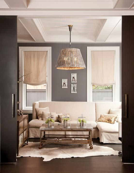 4 Living Room Window Treatment Ideas Grey WallsCharcoal