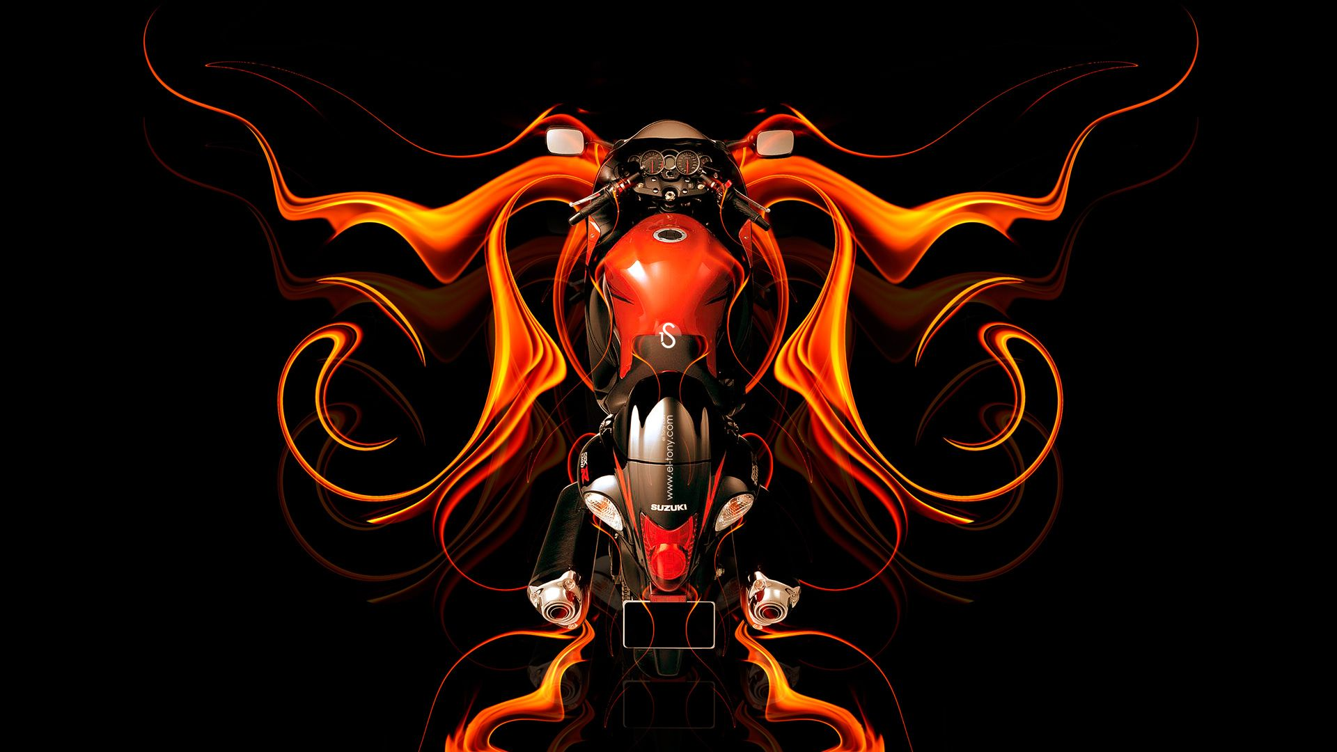 Charmant Moto Suzuki Hayabusa BackUp Super Fire Abstract Bike