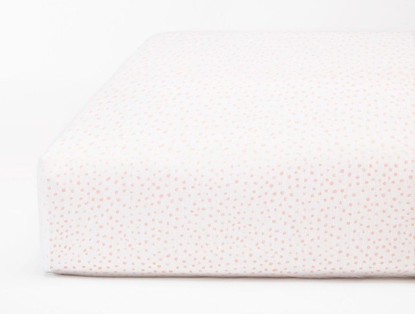 Watercolor Printed Dot Crib Fitted Sheet