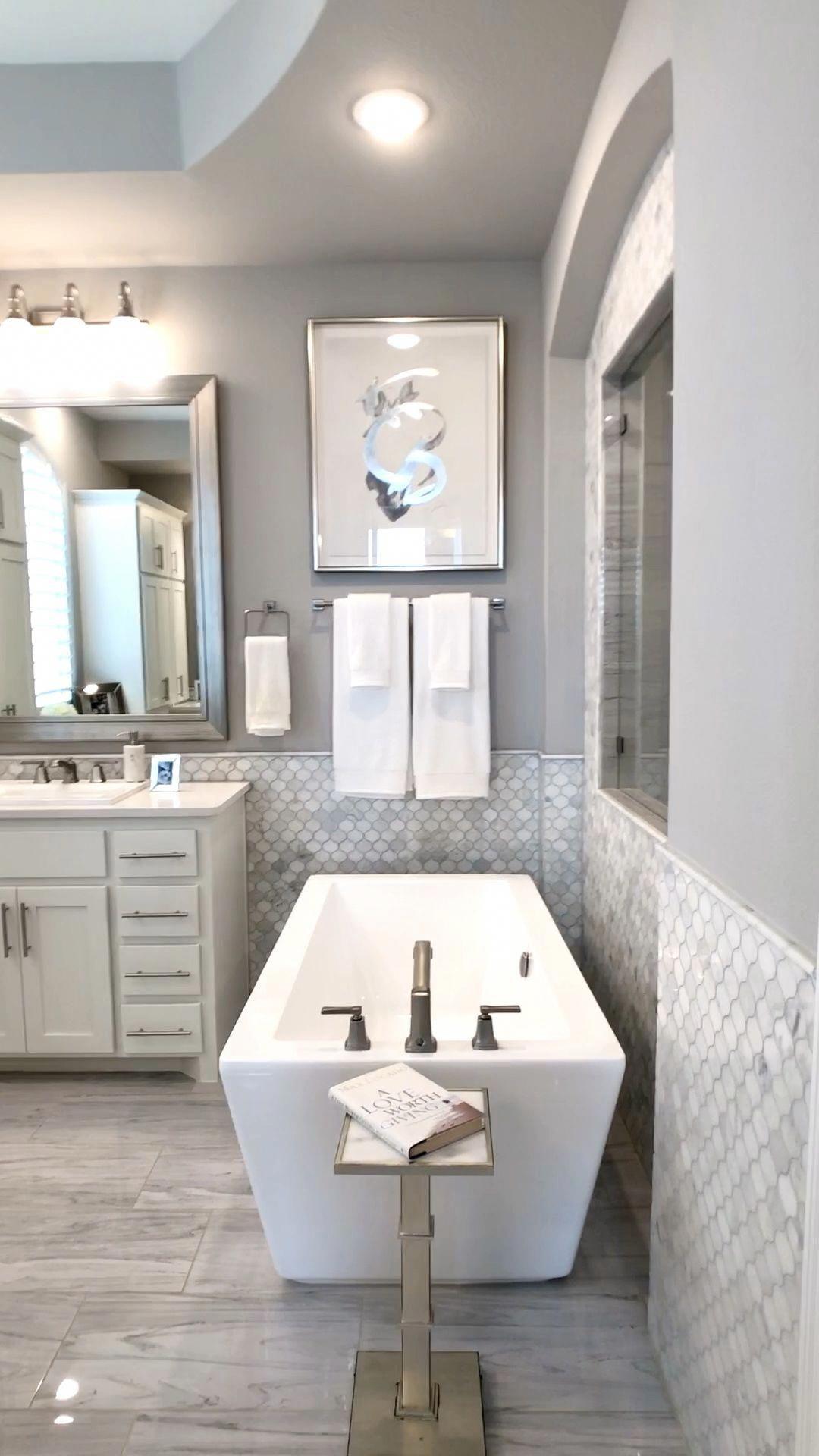 Modern Glam Master Bath In 2020 Master Bathroom Design Bathroom Remodel Master Bathroom Renovations