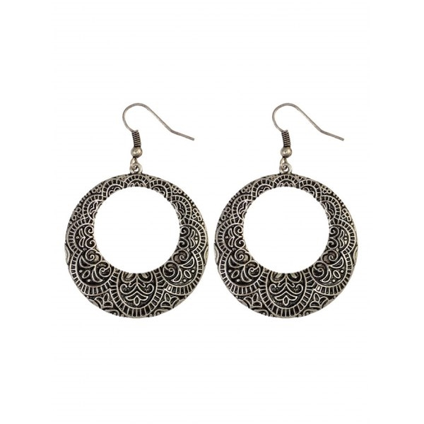 3.07$  Buy here - http://di1pb.justgood.pw/go.php?t=202626302 - Etched Flower Circle Earrings