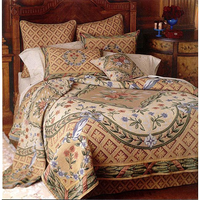 The Savonnerie Tapestry Coverlet Set Is Seamlessly Woven