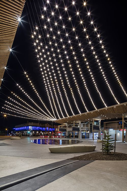 Catenary Lighting Australia Examples Include Henley Square At Henley Beach,  Adelaide. Tensile Undertook The Design, Development And Engineering.