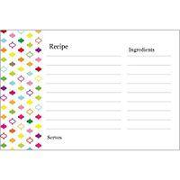 Free Avery Templates Multi Color Design Recipe Cards On Postcards 2 Per Sheet Recipe Cards Template Recipe Cards Card Template