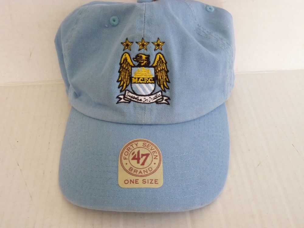 9cbe684bb4a MCFC Manchester City Football Club Cap Hat Soccer Adult 47 Brand