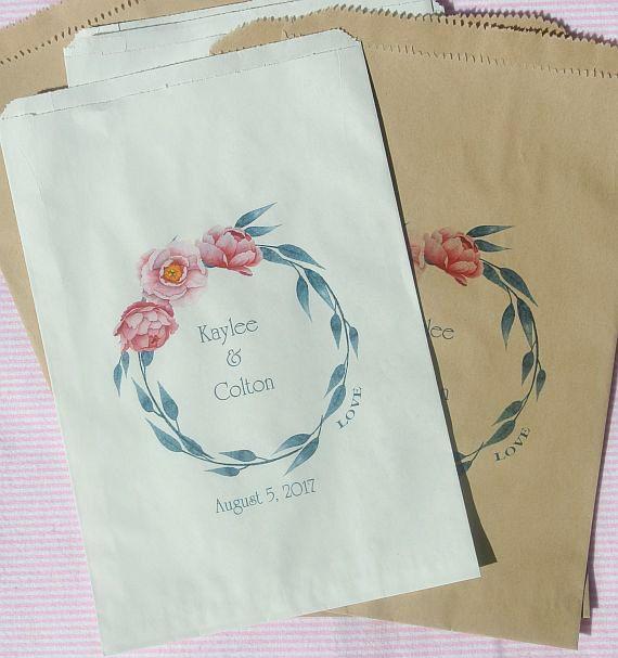 Wedding Favor Bags Candy Buffet Ideas Pink Wedding Ideas