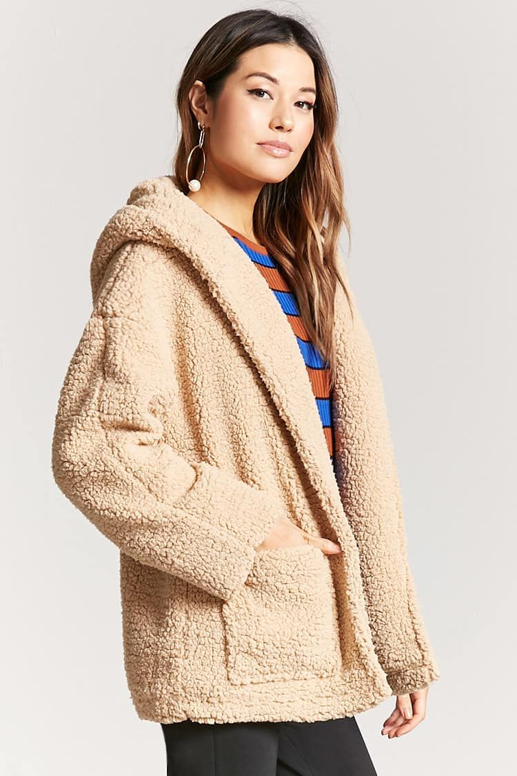 996bfc3497 Product Name Hooded Faux Shearling Jacket