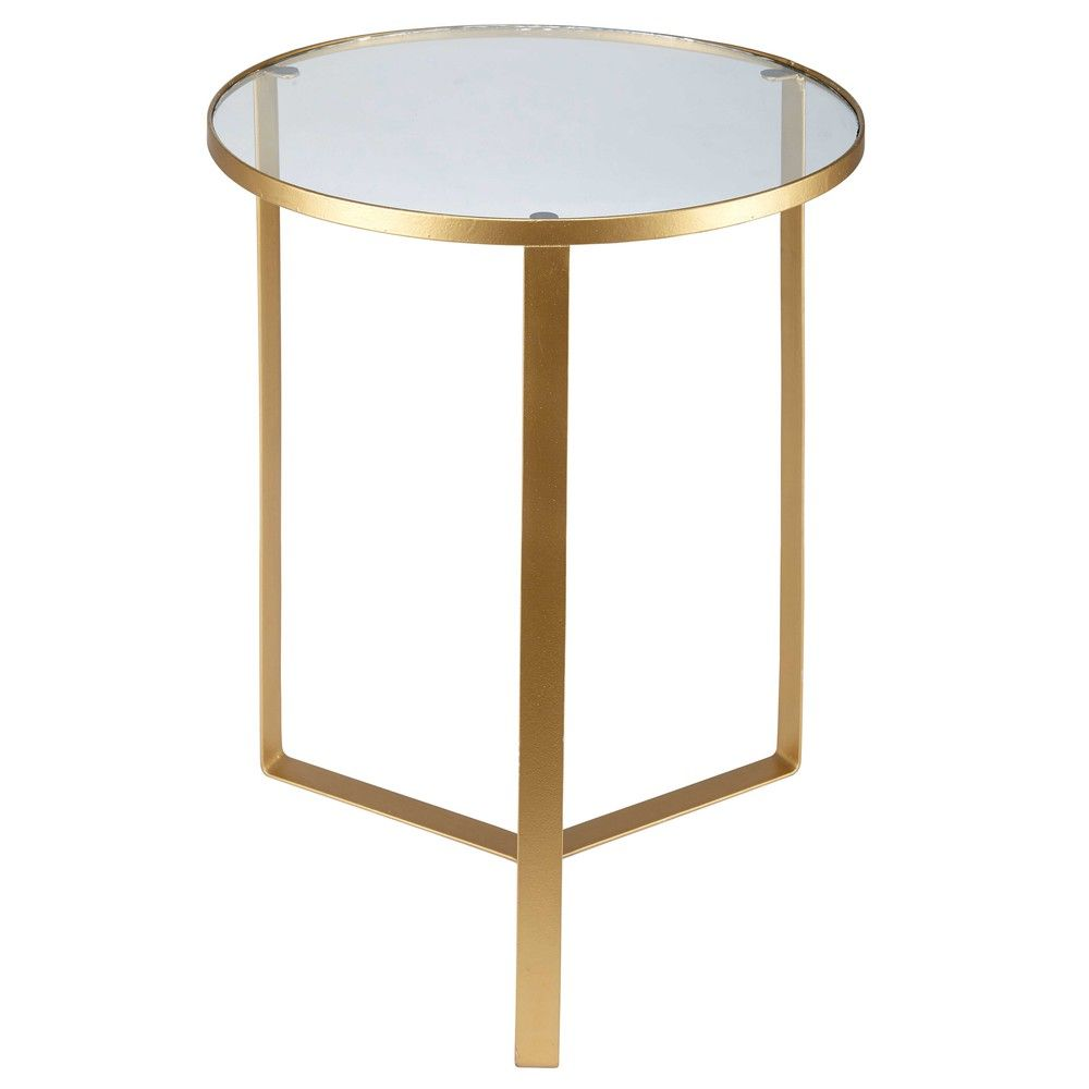 Glass and gold metal side table | Metal side table, Living rooms and ...