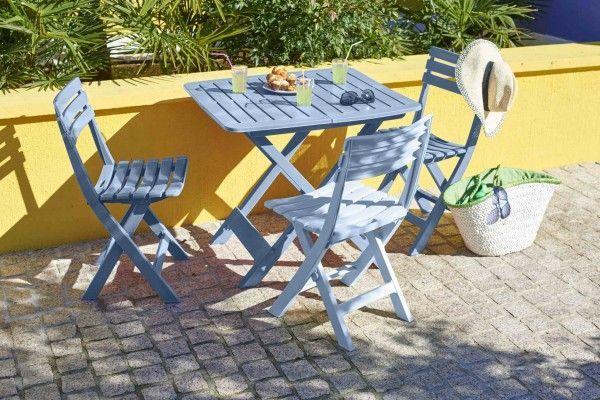 Inspirations Balcon Terrasse Jardin Chaises Et Table Pliantes En Plastique Legeres Et Faciles A Nettoyer Gifi Terrasse Jardin Table Pliante Mobilier De Salon