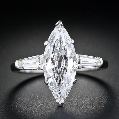 1 78 Carat Marquise Diamond Engagment Ring 10 1 4383 Lang Antiques Marquise Diamond Engagement Ring Diamond Big Diamond Rings