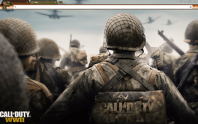 Call Of Duty Wwii Google Chrome Theme Call Of Duty Beautiful Advanced Warfare