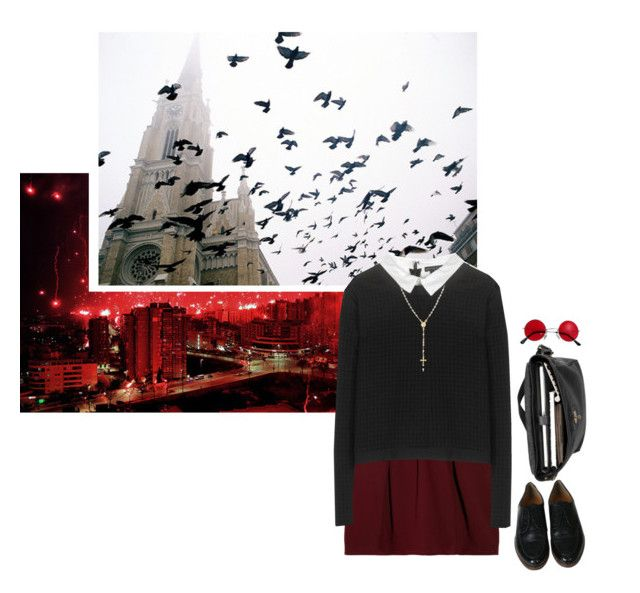 """Murdock"" by constellvtion ❤ liked on Polyvore featuring Mulberry, Carven, Alice + Olivia, Bling Jewelry, marvel, tvshow, daredevil and marvelcharacter"