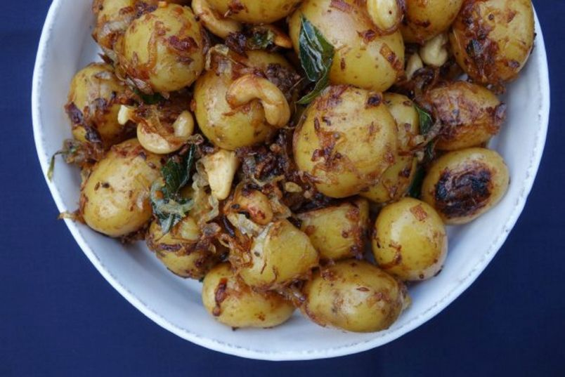 A distant more tropical cousin of the classic potato salad south a distant more tropical cousin of the classic potato salad south indian potatoes are forumfinder Images