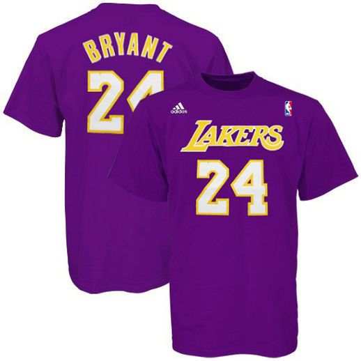 new style 6bece 70341 adidas Kobe Bryant Los Angeles Lakers Purple Net Number T ...
